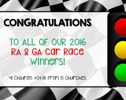 RA & GA Car Race Winners!